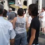 Lebanese Lesbian anti war Demonstrator